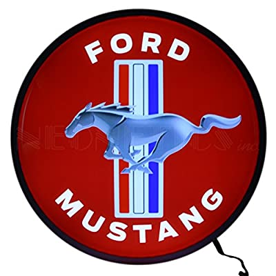 Neonetics Ford Mustang Backlit LED Lighted Sign, 15""