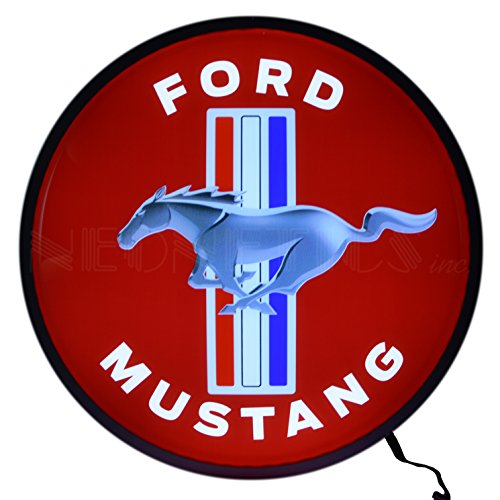 Neonetics Ford Mustang Backlit LED Lighted Sign, 15