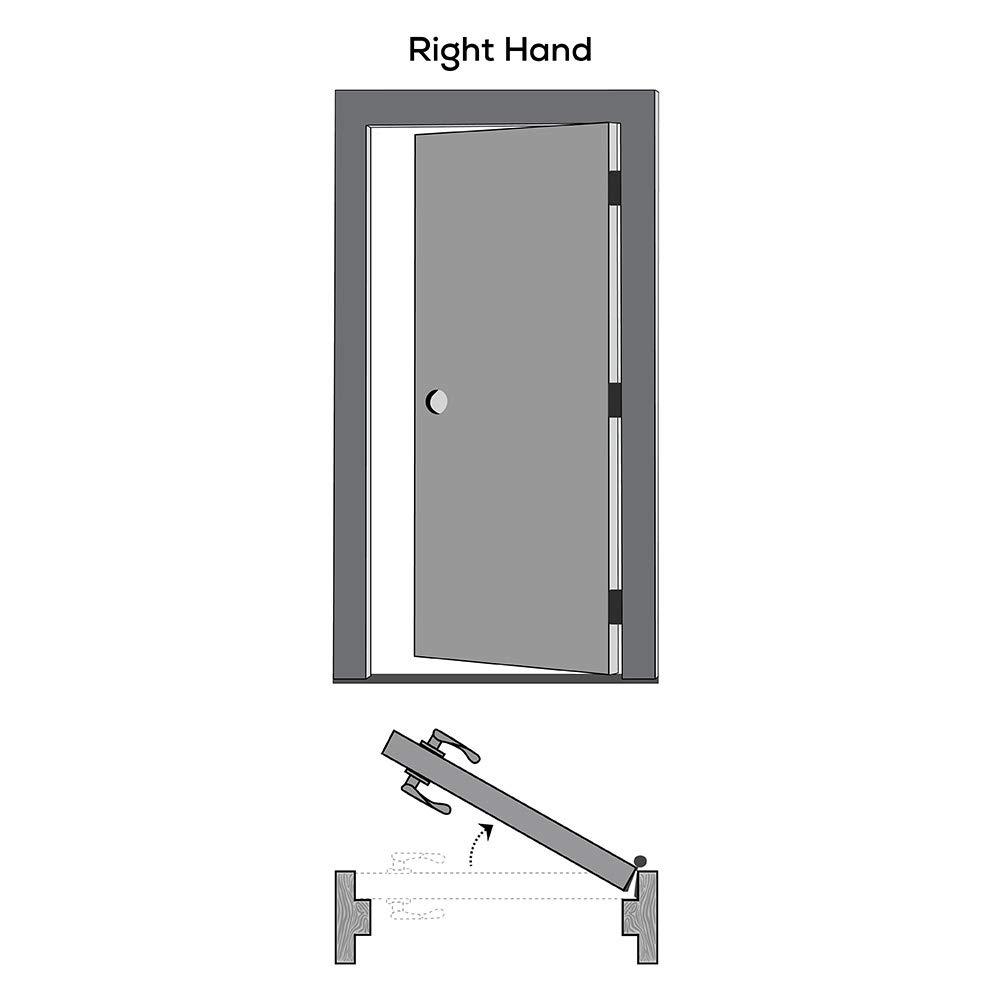 Molded MDF 5-Panel National Door Company ZZ365026R Solid Core 32 x 80 on 6-9//16 Jamb Prehung Interior Single Door Right Hand