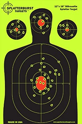 50 Pack - 12 x 18 inch Silhouette - Splatterburst Shooting Targets - Gun - Rifle - Pistol - AirSoft - BB Gun - Pellet Gun - Air Rifle
