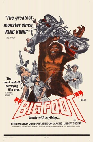 ArtFuzz Bigfoot Movie Poster 11 X 17 inch