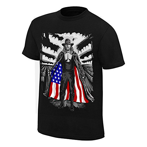 WWE Undertaker I Respect Americana Youth T-Shirt Black/Purple Medium by WWE Authentic Wear