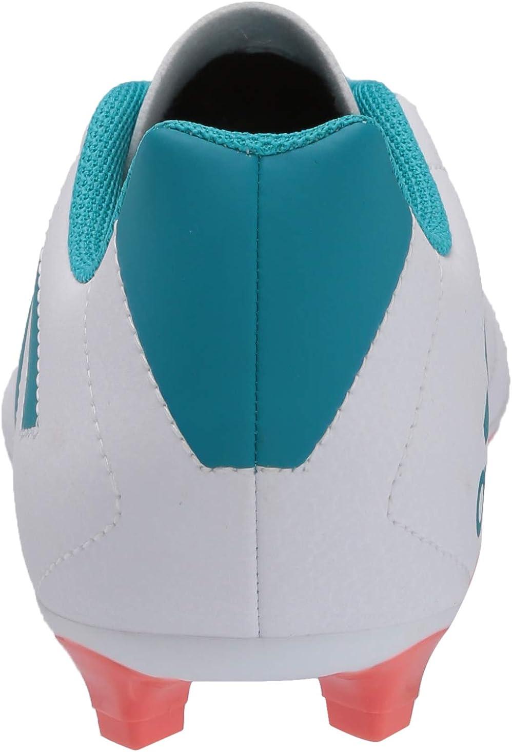 adidas Goletto VII FG W Tenis para Mujer Blanco Azul Energético Coral Fácil