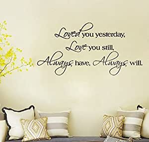 papel pintado adhesivo mural art decals loved you al por