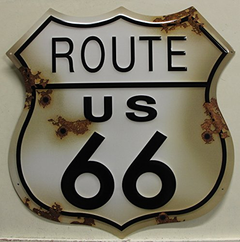 ROUTE 66 Metal Sign Large 24