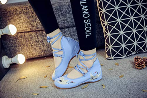 Wind Flats Chinese Blue Shoes Ballet and Espadrilles Shoes Embroidered Women's Embroidered Shoes Dance 8xqFUdB
