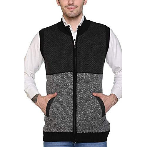 51%2BKxygTVbL. SS500  - aarbee Sleeveless Zipper Sweater for Men