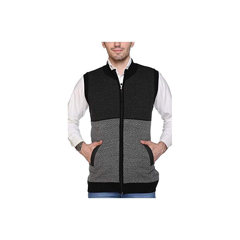 51%2BKxygTVbL. SS768  - aarbee Sleeveless Zipper Sweater for Men