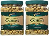 Planters Fancy Whole Cashews, Salted, 33 Ounce, 2 Tubs