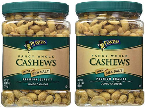 Planters Fancy Whole Cashews, Salted, 33 Ounce, 2 Tubs by Planters (Image #1)
