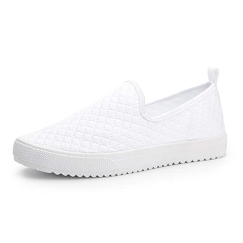 Mujer Plataforma Mocasines Zapatillas De Deporte Zapatos Casuales Malla Transpirable Slip-On Tela De AlgodóN Guinga Mocasines Femeninos Calzado: Amazon.es: ...