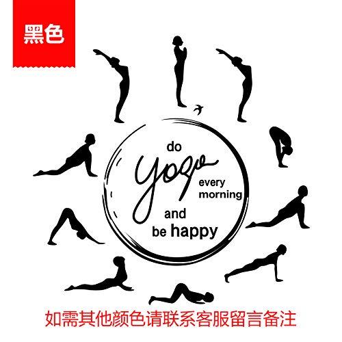 Yoga Hall Pared Pegar Gimnasio Música Baile Yoga Arte Curso ...