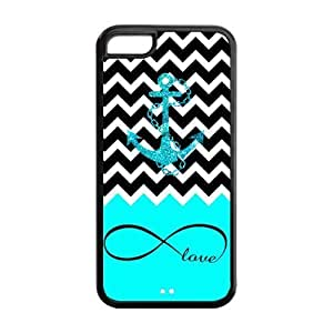 LJF phone case LeonardCustom Fashion Navy Sailor Anchor Protective Hard TPU Rubber Coated Phone Case Cover for iphone 4/4s