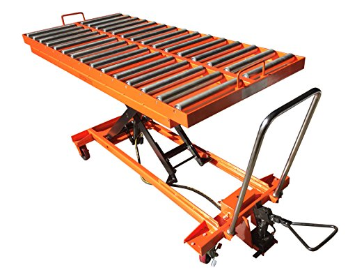 1100-lb-Hydraulic-lift-Table-with-Rollers