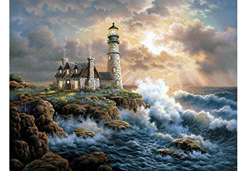 INSANY DIY 5D Diamond Painting Kit, Full Diamond Lighthouse Embroidery Rhinestone Cross Stitch Arts Craft Supply for Home Decoration(14X18inch/35X45CM) by INSANY