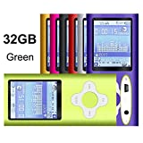 G.G.Martinsen Green Versatile MP3/MP4 Player, Support Photo Viewer, Mini USB Port 1.8 LCD, Digital MP3 Player, MP4 Player, Video/Media/Music Player