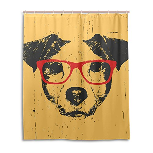 oprint-shower-curtain-for-bathroom-dog-with-glasses-waterproof-fabric-bathroom-deco-60x72inch