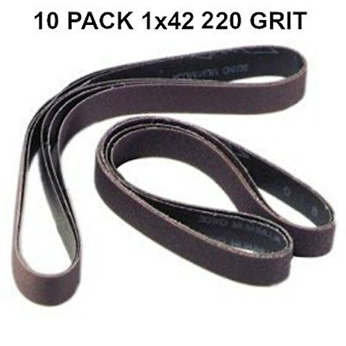 1x42-220 Grit 10 Pack - Premium Silicon Carbide Knife Sharpening Belts Made in USA