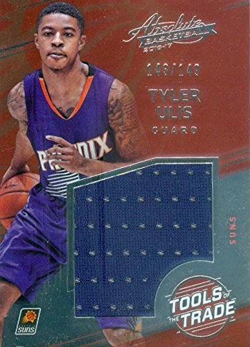 703a46816db Image Unavailable. Image not available for. Color  Tyler Ulis player worn  jersey patch basketball card (Phoenix Suns) 2016 ...
