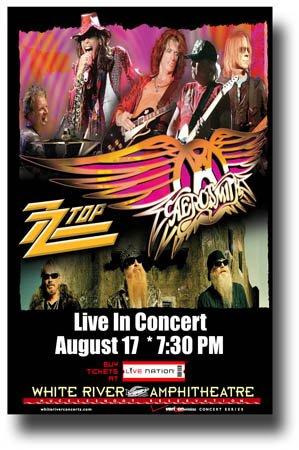 Aerosmith Poster - 11 x 17 Promo for a Concert - ZZ Top (Aerosmith Van)