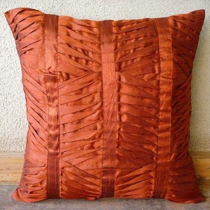 (Luxury Rust Euro Pillow Covers, 26