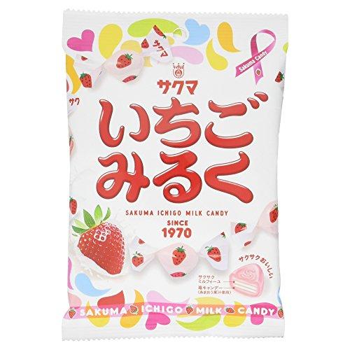 Sakuma Strawberry [Ichigo] Milk Candy , 3.52oz-bag [Japan Import] ()