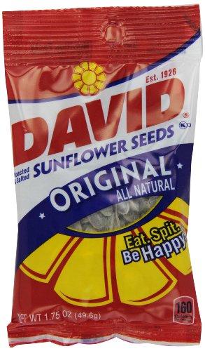 Collations santé - David Graines de tournesol originales Toutes les graines de tournesol naturels, 24/1.75 Oz. Sacs