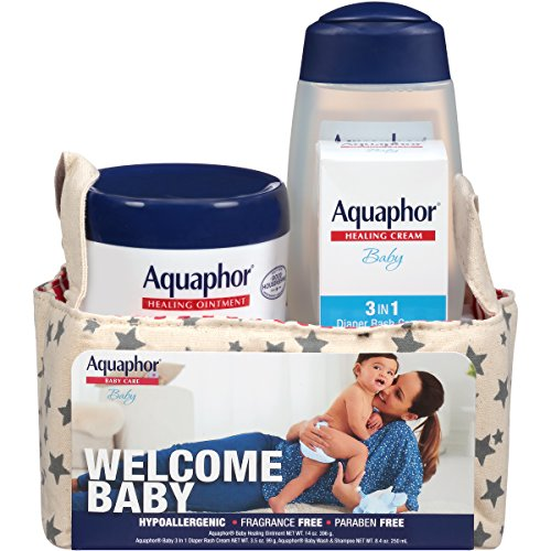 Aquaphor Welcome Baby Gift Set - Pediatrician Recommended Brand (Basket New Bath Baby Gift)