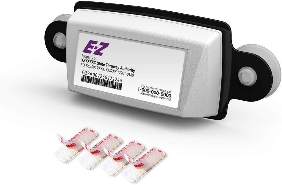 HSTECH 8 Pack EZ Pass Holder Suction Cup Compatible with AutoBoxClub Mount