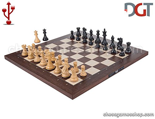 DGT USB Rosewood eBoard with EBONY pieces - Electronic chess by DGT e-board