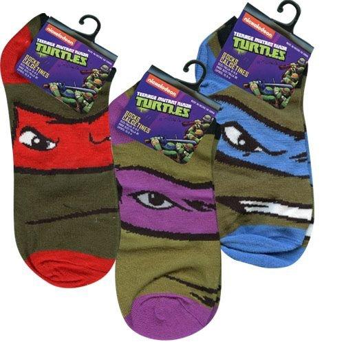 TMNT Ninja Turtle Kids Anklet Socks Size 6-8 1/2 x 3 (Ninja Turtle Hats And Gloves)