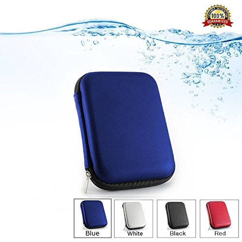 2.5 Portable External Hard Drive Case for WD/Western Digital Element My Passport/Seagate Expansion Backup Plus/Samsung/Toshiba Shockproof Waterproof Hand Carry Hard Disk HDD Bag (Dual Gig Desktop)