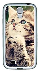 Samsung Galaxy S4 Case TPU Customized Unique Print Design Pray In A Lovely Cat 1 Case Cover For Samsung Galaxy S4