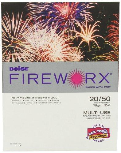 Boise Fireworx Color Copy/Laser Paper, 20 lb, Letter Size (8.5 x 11), Rat-a-Tat Tan, 500 Sheets (MP2201-TN)