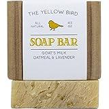 Lavender Goats Milk Soap Bar with Oats. Gentle Exfoliating Bath Soap. Moisturizing Dry Skin Face & Body Wash. Mild Natural and Organic Soap. Artisan Handmade Bar Soap