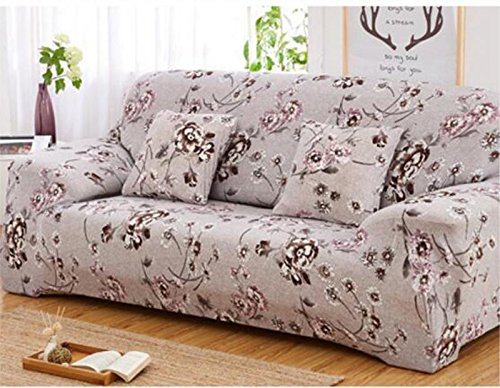 - YJBear 1 PC European Coffee Floral Flower Pattern Polyester Spandex Furniture Cover Slip Resistant Strapless Stretch Chair Loveseat Sofa Protector Shield 74.8
