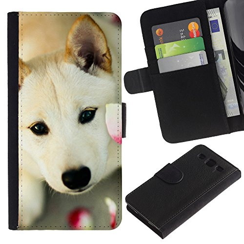 Be Good Phone Accessory // Caso del tirón Billetera de Cuero Titular de la tarjeta Carcasa Funda de Protección para Samsung Galaxy S3 III I9300 // Great Pyrenees Canaan Dog Pet