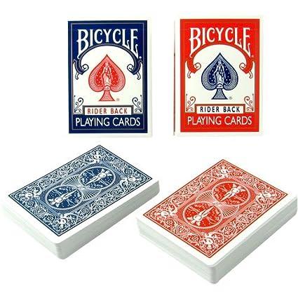 Amazon.com: 2 Decks Azul Canasta para bicicleta con puntos ...