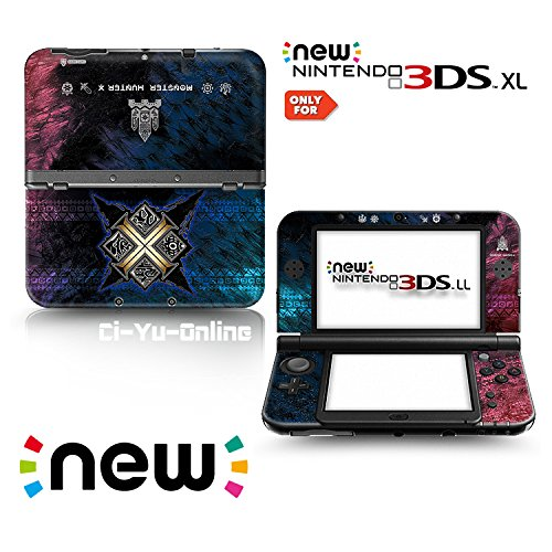 Ci-Yu-Online VINYL SKIN [new 3DS XL] - Monster Hunter X #1 Cross - Limited Edition STICKER DECAL COVER for NEW Nintendo 3DS XL / LL Console System - Inside Cross