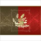 "Christmas Holiday Greeting Card H1005. Wish ""every happiness this Holiday Season"". For personal or business use; gold foil-lined envelopes."