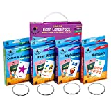 Star Right Flash Cards Set of 4 - Numbers, Alphabets, First Words, Colors & Shapes - Value Pack Flash Cards with Rings for Pre K - K: more info