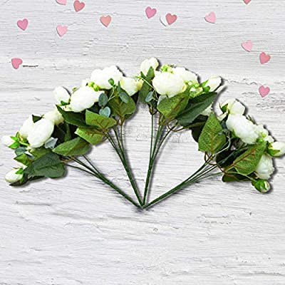 Artificial Flowers Wedding Bouquet Bridesmaid Bridal Party Centerpieces Decoration