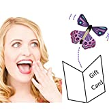 Rinhoo 6Pcs Magic Fairy Flying in the Book Butterfly Rubber Band Powered Wind Up Butterfly Toy Great Surprise Wedding Birthday Gift