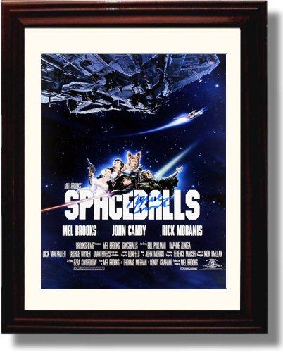 Amazoncom Framed Mel Brooks Autograph Replica Print Spaceballs
