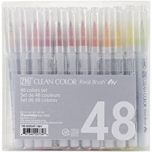 Zig Clean Color Real Brush Markers (48 Per Package)