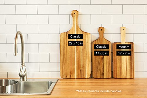Villa Acacia Large Wooden Cheese Board and Pizza Board by Thirteen Chefs (Image #4)
