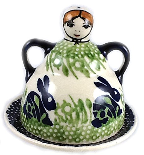 Polish Pottery Lemon Lady or Mini Cheese Lady in Pattern P324 or Bunny Rabbit