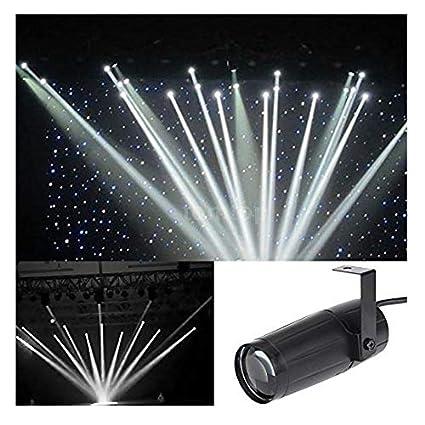 5W Led Disco Effect Stage Lighting White Beam Spotlight Mirror Balls Light Music White Light