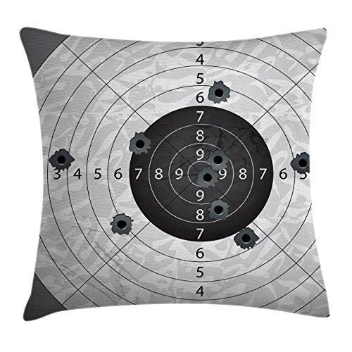 Military Decor Throw Pillow Cushion Cover by Ambesonne, Gun