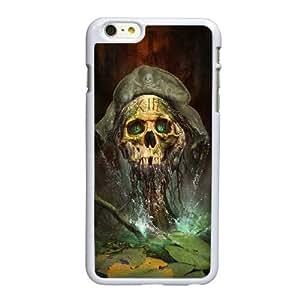 Engranajes V9Q84 de cráneo guerra funda iPhone D6C8IK 6 4.7 pufunda LGadas funda caja del teléfono celular cubren PQ2CKL2XC blanco